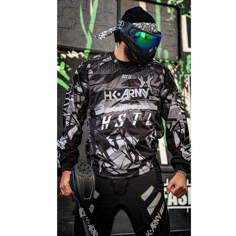 HK Army HSTL Line Padded Paintball Jersey - Charcoal - PaintballDeals.com