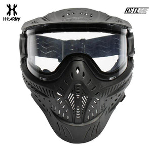 HK Army HSTL Goggle Single Lens Paintball Mask - Black - PaintballDeals.com