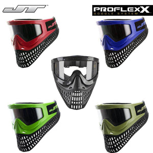 JT Proflex X Thermal Paintball Mask with Pro Change Spectra Goggle Frame - PaintballDeals.com