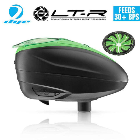 Dye LT-R Loader .68 cal Electronic Paintball Loader Hopper 30+ BPS - Lime