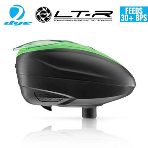 Dye LT-R Loader .68 cal Electronic Paintball Loader Hopper 30+ BPS - Lime - PaintballDeals.com