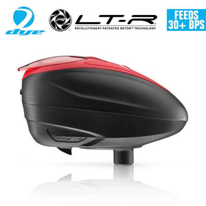 Dye LT-R Loader .68 cal Electronic Paintball Loader Hopper 30+ BPS - Red - PaintballDeals.com