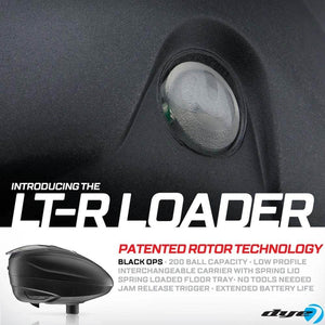 Dye LT-R Loader .68 cal Electronic Paintball Loader Hopper 30+ BPS - Black
