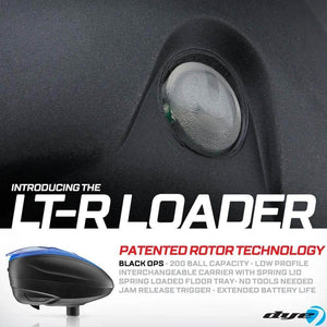Dye LT-R Loader .68 cal Electronic Paintball Loader Hopper 30+ BPS - Blue - PaintballDeals.com