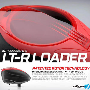 Dye LT-R Loader .68 cal Electronic Paintball Loader Hopper 30+ BPS - Red
