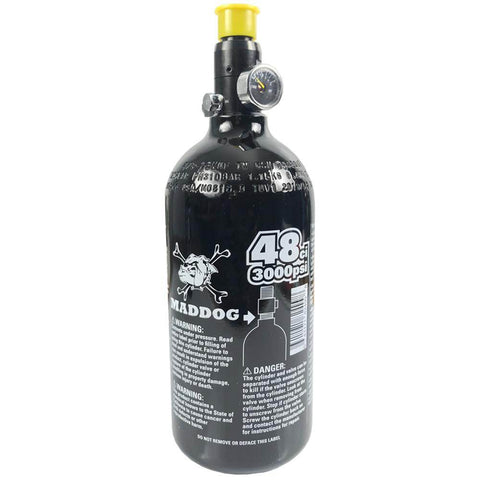 Maddog 48/3000 Compressed Air Aluminum HPA Paintball Tank - 5 Yr Hyrdro