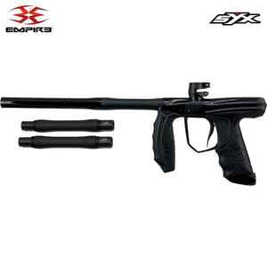 Empire Syx 1.5 Electronic Paintball Gun Marker with 3 Barrel Backs - Polished / Dust Black