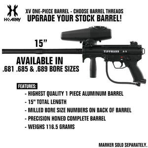 HK Army XV One-Piece Paintball Barrel Upgrade - 15""
