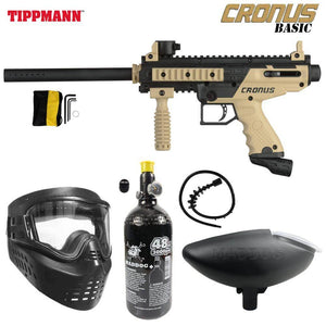 Tippmann Cronus Tactical Bronze HPA Paintball Gun Package - PaintballDeals.com