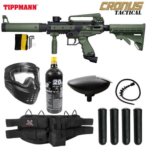 Tippmann Cronus Tactical Silver Paintball Gun Package