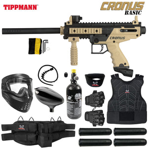 Tippmann Cronus Tactical Starter Protective HPA Paintball Gun Package