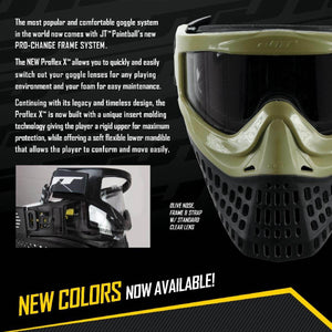 JT Proflex X Thermal Paintball Mask with Pro Change Spectra Goggle Frame