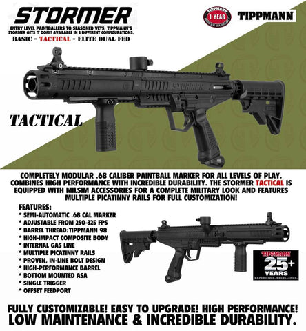 Maddog Tippmann Stormer Private HPA Paintball Gun Marker Starter Package