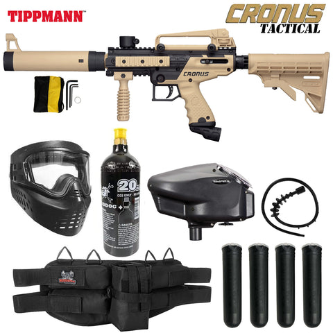 Tippmann Cronus Tactical Gold Paintball Gun Package