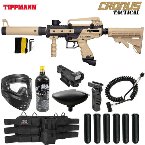 Tippmann Cronus Tactical Red Dot CO2 Paintball Gun Starter Package