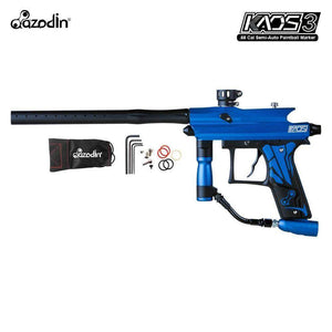 Azodin Kaos 3 Semi-Automatic .68 Caliber Paintball Gun Marker - Blue / Black