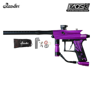 Azodin Kaos 3 Semi-Automatic .68 Caliber Paintball Gun Marker - Purple / Black - PaintballDeals.com
