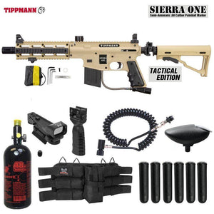 Maddog Tippmann Sierra One Tactical HPA Red Dot Paintball Gun Package