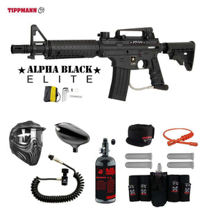 Tippmann U.S. Army Alpha Black Elite Tactical Maddog Elite Remote HPA Paintball Gun Package