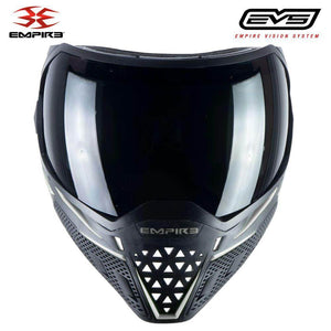 Empire EVS Thermal Paintball Mask - Black / White - PaintballDeals.com