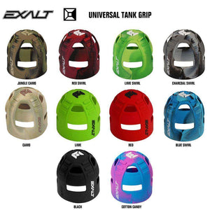 Exalt Universal Carbon Fiber Compressed Air HPA Paintball Tank Grip - PaintballDeals.com