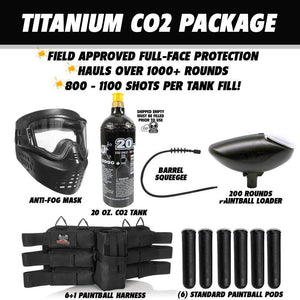 Tippmann Gryphon FX Titanium Paintball Gun Package - Skull