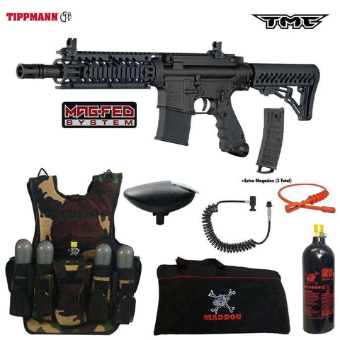 Tippmann TMC MAGFED Lieutenant Tactical Camo Paintball Gun Package