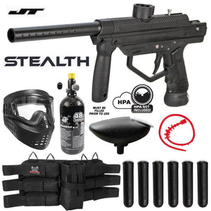 Maddog JT Stealth Semi-Automatic .68 Caliber Titanium Paintball Gun Starter Package - PaintballDeals.com