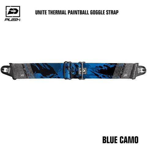 Push Unite Paintball Goggle Mask Strap - Blue Camo - PaintballDeals.com