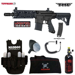 Tippmann TMC MAGFED Lieutenant HPA Paintball Gun Package