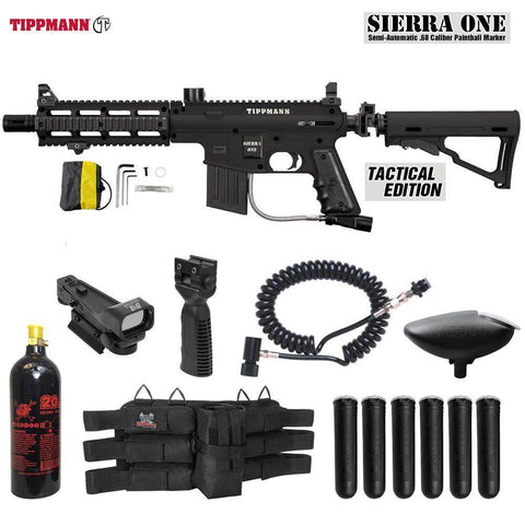 Maddog Tippmann Sierra One Tactical CO2 Red Dot Paintball Gun Package