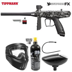 Tippmann Gryphon FX Bronze Paintball Gun Package - Skull