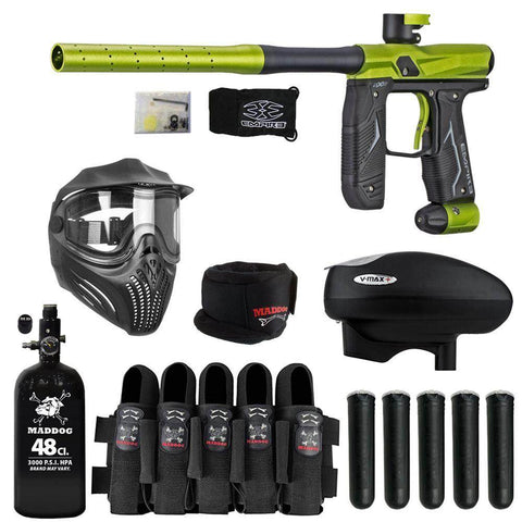 Maddog Empire Axe 2.0 Paintball Gun HPA V-Max+ Accessory Combo Package