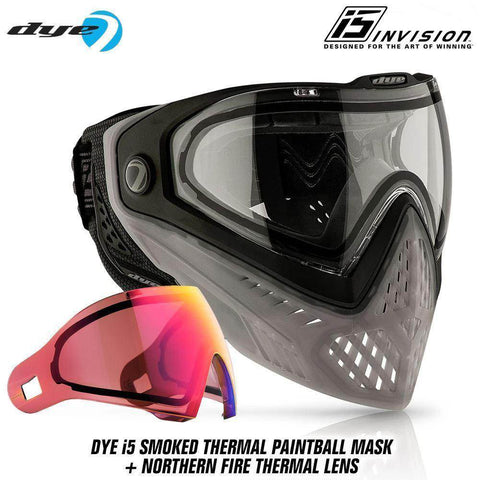 Dye I5 Thermal Paintball Mask Goggles with GSR Pro Strap - PaintballDeals.com