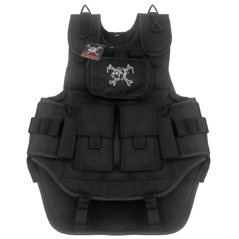 CLEARANCE - Maddog Tactical Paintball Vest - Black - OPEN BOX