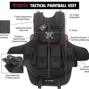 Tippmann A-5 Lieutenant HPA Paintball Gun Package