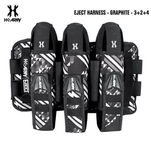 HK Army 3+2 | 4+3 | 5+4 Eject Paintball Harness Pod Pack - Graphite - PaintballDeals.com