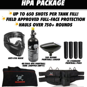 Maddog Azodin Kaos 3 Beginner HPA Paintball Gun Marker Starter Package B