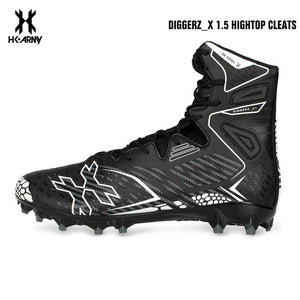 HK Army Diggerz_X 1.5 Hightop Paintball Cleats - Black/Grey