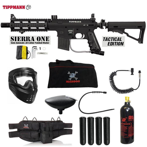 Maddog Tippmann Sierra One Specialist Paintball Gun Package