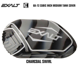 Exalt 68-72 Cubic Inch Compressed Air HPA Paintball Tank Cover - Charcoal Swirl - PaintballDeals.com