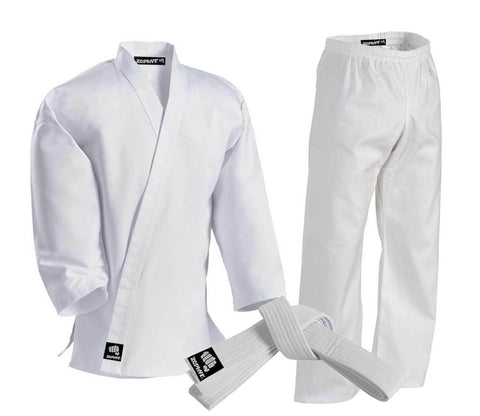 CLEARANCE - Zephyr Martial Arts Karate Gi Student Uniform - White Belt - OPEN BOX