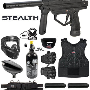 Maddog JT Stealth Semi-Automatic .68 Caliber Protective Paintball Gun Starter Package - PaintballDeals.com