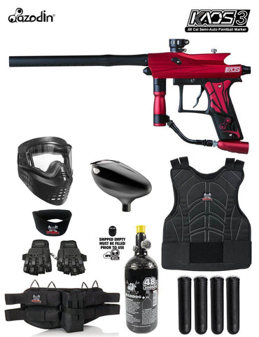 Maddog Azodin Kaos 3 Protective HPA Paintball Gun Marker Starter Package