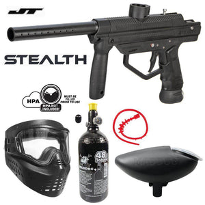 Maddog JT Stealth Semi-Automatic .68 Caliber Bronze Paintball Gun Starter Package