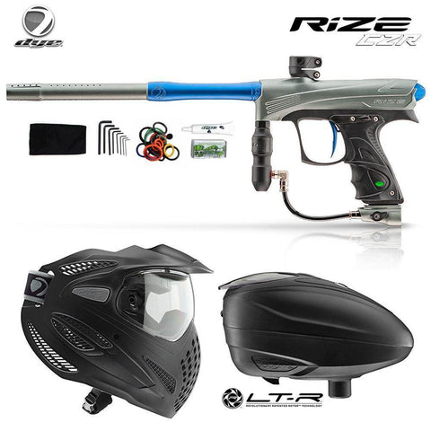 Dye Rize CZR Paintball Gun with Dye SE Thermal Paintball Goggles and Dye LT-R Paintball Loader Combo Package