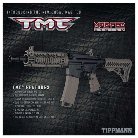 Tippmann TMC MAGFED  Elite HPA Paintball Gun Package
