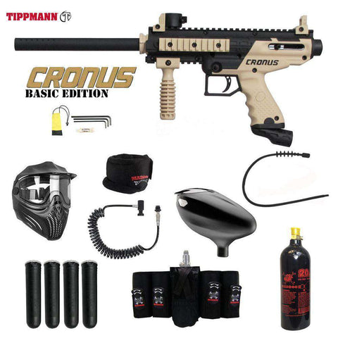 Tippmann Cronus Tactical Maddog Elite Remote CO2 Paintball Gun Package