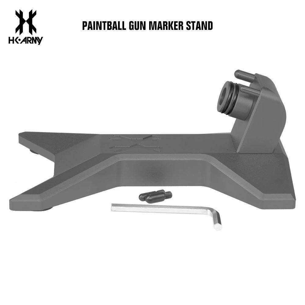HK Army Paintball Gun Marker Stand - Pewter - PaintballDeals.com