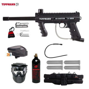 Tippmann 98 Custom Platinum Series Gold Paintball Gun Package